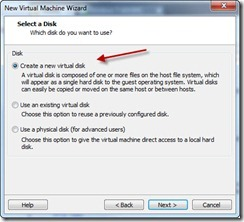 10 - Create new Virtual Disk