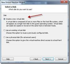 10 - Create new Virtual Disk
