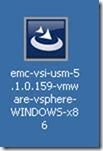 1 - click on the EMC-VSI-USM-5 Install executable