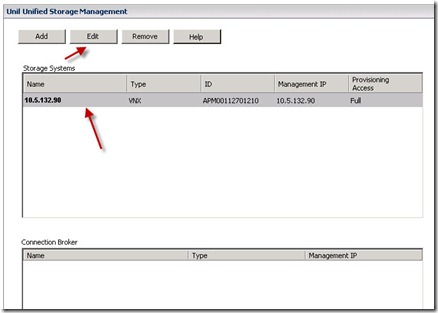 11 - highlight the VNX and click EDIT