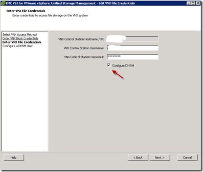 14 - verify creds for file and also click DHSM box