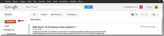 10 - to subscribe within google reader - click on subscribe