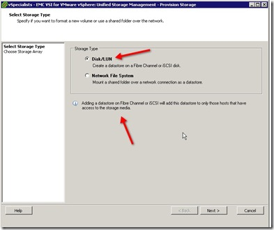 21 - Select Disk-Lun option