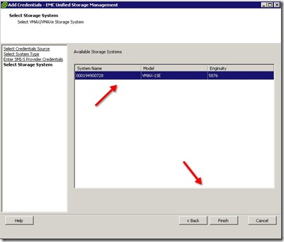 6 - Boom - just select the System name and click finish