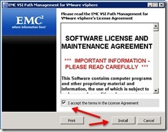 3 - accept license and click install