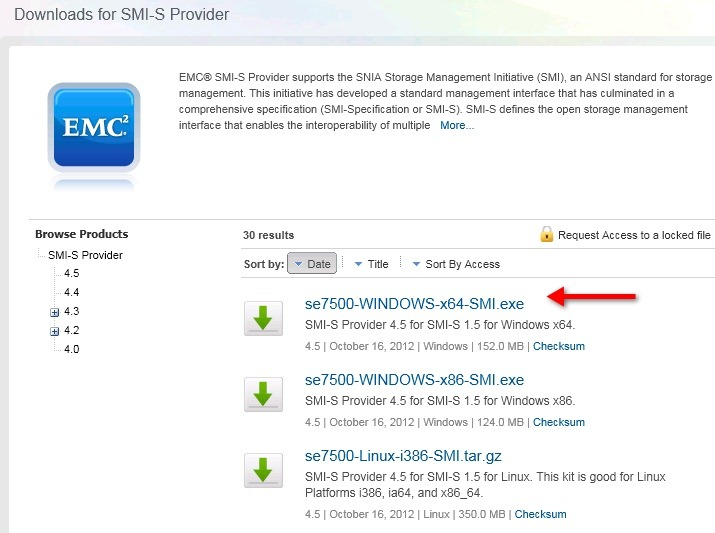 How to setup Solutions Enabler with SMI-S for Windows