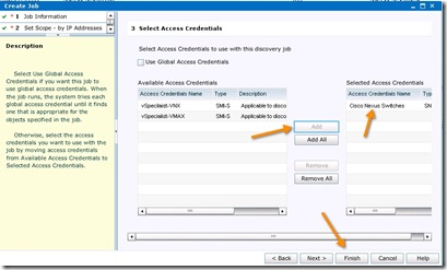 16 - click on the cisco credentials on the left side and click add
