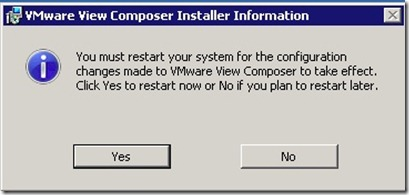 13 - View Composer Installer Needs to reboot