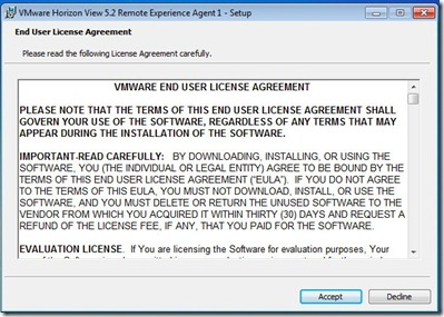 2 - Accept the EULA