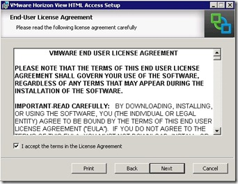 3 - Accept the end user license agreement