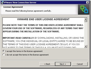 4 - accept or not the EULA