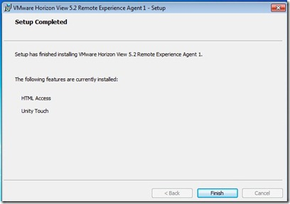 Updating View Agent & Installing Remote Experience Pack