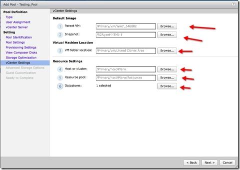 12 - select your parent VM snapshot folder location